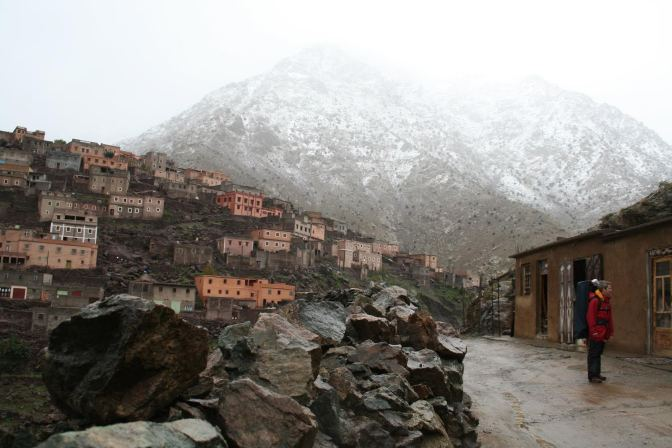 A quiet street in the Atlas mountains