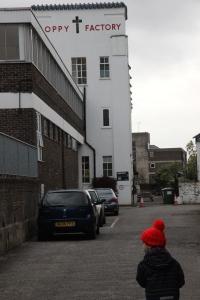 The building is hidden away frm Petersham Road